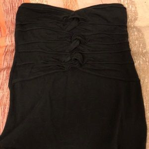 Free People Knotted Strapless Shirt